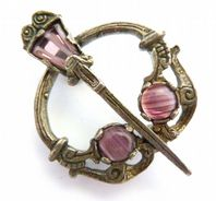 Vintage Celtic Penannular Style Brooch By Miracle.